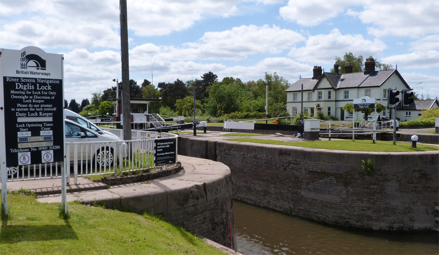 Diglis Lock and Island